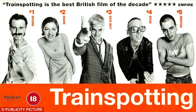 Original: The poster for Trainspotting in 1996 featured stars Ewan McGregor, Robert Carlyle and Jonny Lee Miller
