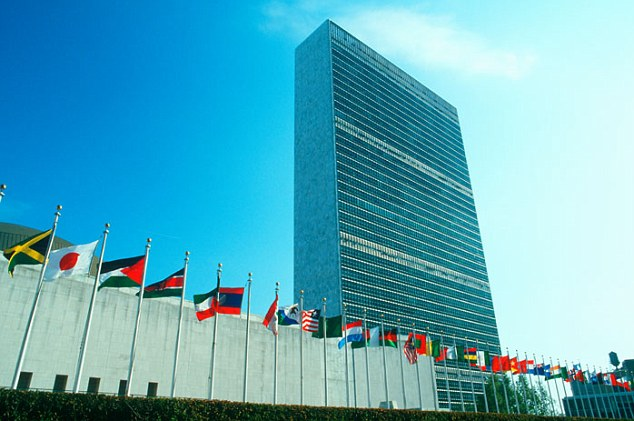 Destination: The massive consignment of cocaine was headed for the UN's New York HQ until security intercepted it