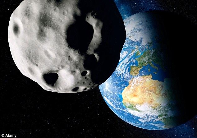 False perspective of the Eros' approach to within 16 million miles of the earth