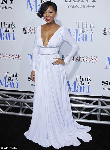 Actress Meagan Good Gets Gold Star For Glamour With Her