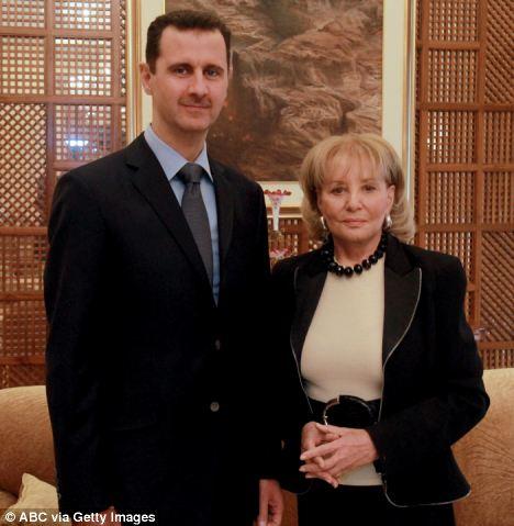 Spin machine: New York-based PR Sheherazade Jafari coached President Bashar Al-Assad for a TV interview with ABC News' Barbara Walters