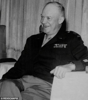 Bizarre: Former American President Dwight D. Eisenhower had three secret meetings with aliens, a former US government consultant has claimed