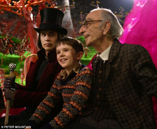 Tributes are flowing: Irish actor David Kelly, who played the Grandpa Joe Bucket in the 2005 remake, Charlie and the Chocolate Factory, alongside Johnny Depp and Freddie Highmore, has died, aged 82