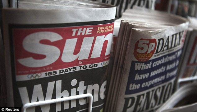 Five staff at The Sun were arrested last weekend following information being passed to police by its parent company