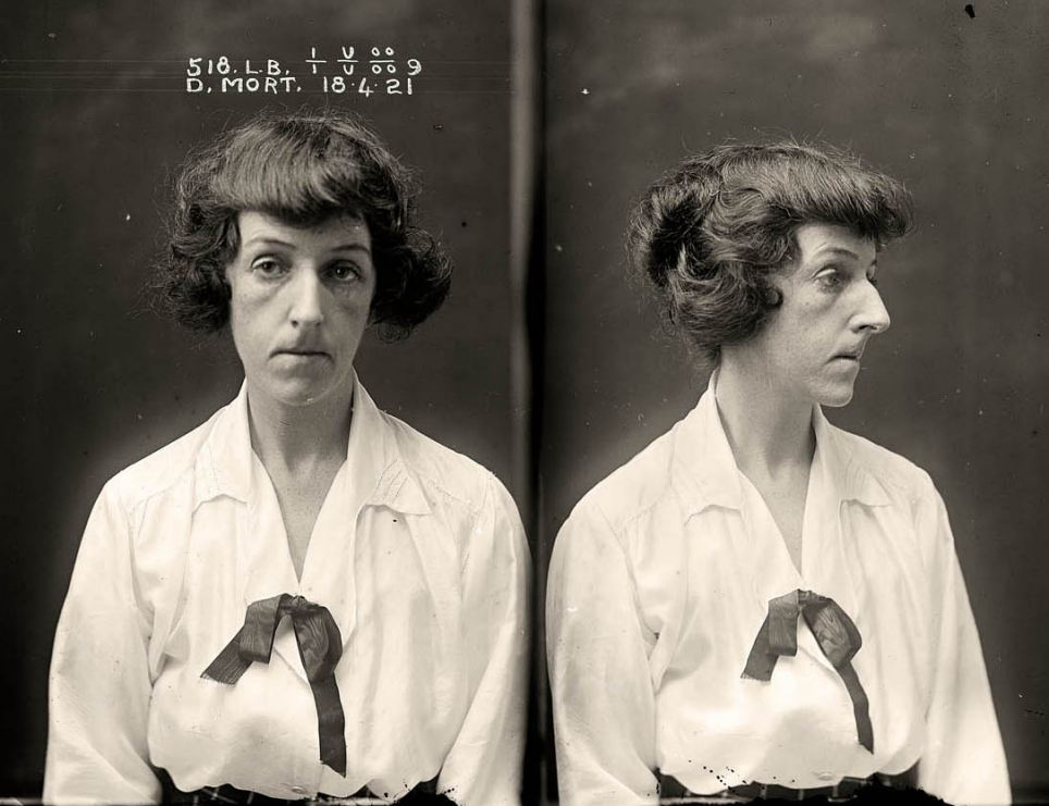 Femme fatale: Dorothy Mort shot her young lover, Dr Claude Tozer, dead on December 21, 1921, before attempting suicide
