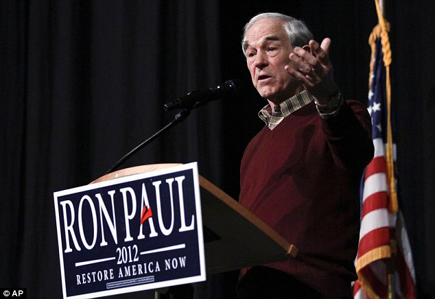 Support: GOP presidential candidate Ron Paul believes the U.S. should return to the gold standard, so paper currency is guaranteed by precious metal