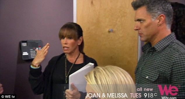 Emotional: The moment is captured on the next episode of reality show Joan & Melissa: Joan Knows Best?