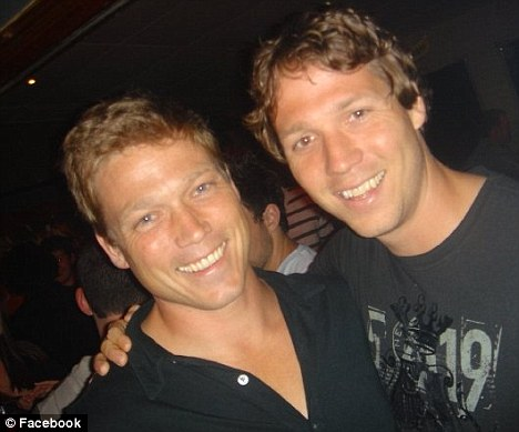 Loss: Production facilitator Jeff Rice (left, pictured with his brother), who worked for TV show The Amazing Race, has died after he was poisoned in Uganda
