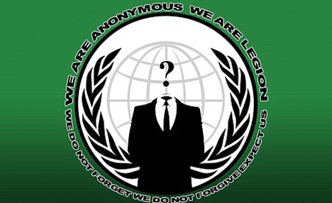 Threat: The U.S. government now believes Anonymous is moving in a more disruptive direction