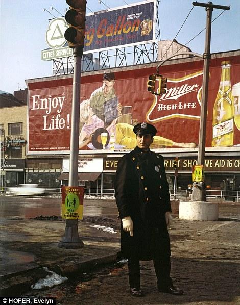 Nostalgic: A policeman patrols 59th Street in 1964