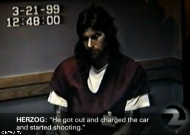 Interrogation: The video of Loren Herzog talking to police after he was arrested in 1999 was released by a local television station