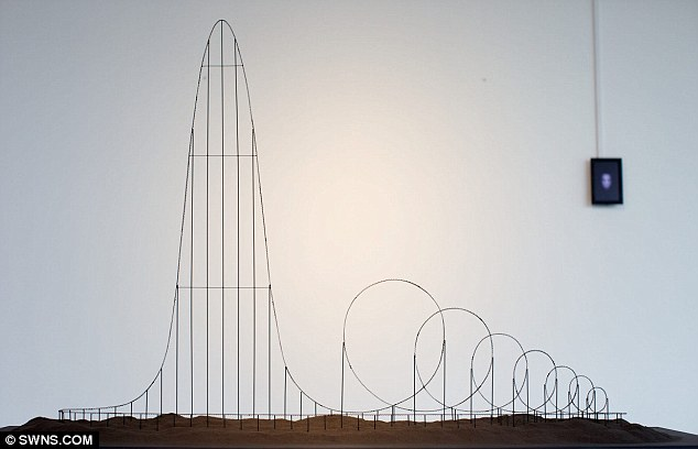 Chilling: The model looks like an ordinary roller coaster until you realised it was designed to kill you