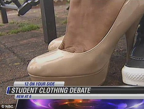 Choice: He claimed the heels really angered principal Stephannie Crutchfield, who allegedly told him: 'We would be glad if you didn't come back here'