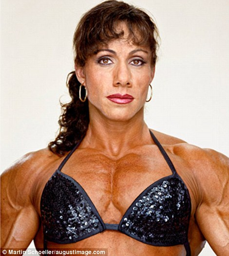 Defining beauty: The photographs of the group of international female body builders were taken by acclaimed celebrity photographer Martin Schoeller