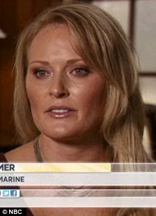 Raped: Lt Elle Helmer also says she was raped and no punishment came about for her accused rapist