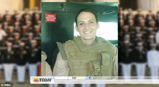 Service: Lt Klay, who graduated with honours from the U.S. Naval Academy, joined the Marine Corps, and went on to serve in Iraq, claims that her rapists threatened to kill her and said they wanted to humiliate her
