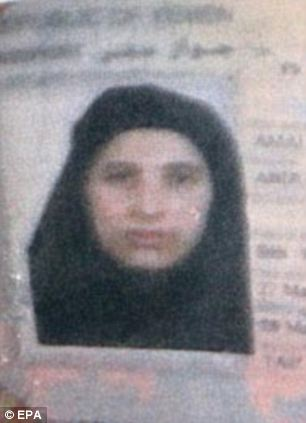 Favourite: bin Laden shared a room with his youngest wife, Amal Ahmed Abdel-Fatah al-Sada