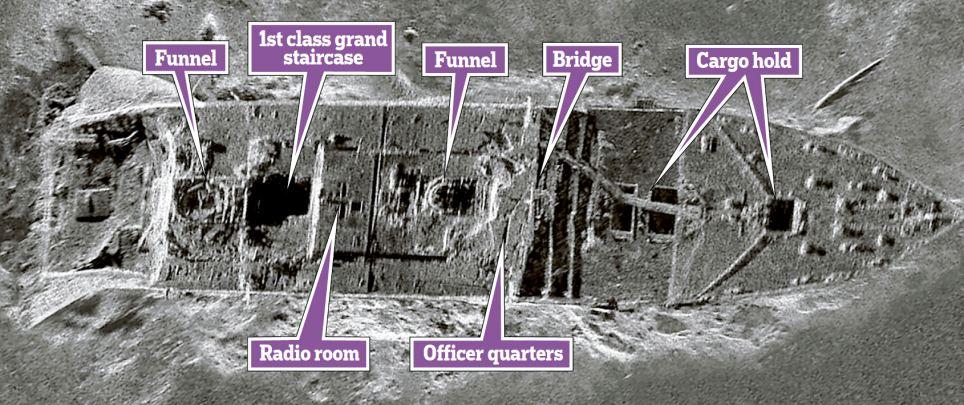 Alta resolução: A nova imagem da proa do Titanic em no fundo do Atlântico norte