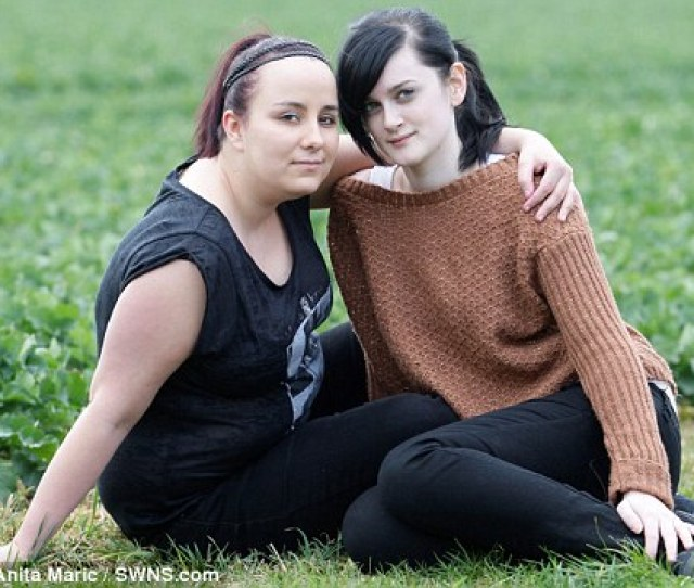 Denied Lesbian Couple Liz Ross Left And Hayley Simpson Right Were