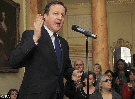 Supporter: David Cameron has backed same-sex marriages