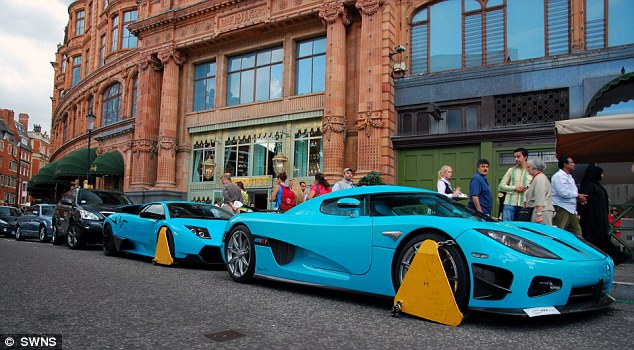 The only time the Qataris have excited the curiosity of the British was when two of their royal family's matching turquoise supercars were clamped outside Harrods, which they own