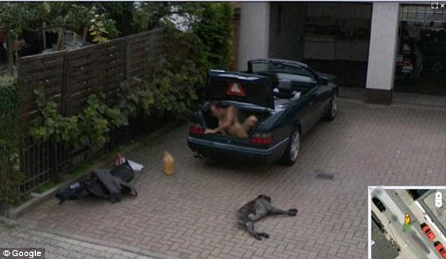 Google Street View of  a Man.
