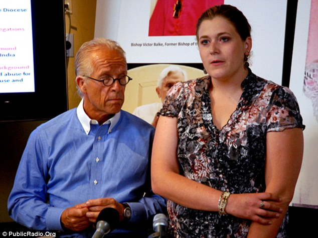 Alleged victim: Megan Peterson, right, now 22, claims she was sexually assaulted by Jeyapaul when she was 14