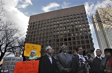 Religious targets: Recently the NYPD selectively monitored Muslim communities in both New York and New Jersey sparking outrage and protests like the one shown