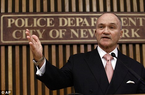 Monitoring: Reports reveal counter-terrorism tactics by the NYPD under Police Commissioner Raymond Kelly, pictured, that monitored even lawful activities
