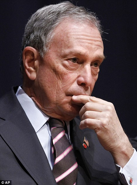Eagle eye: In big cities like New York, the city's Mayor Michael Bloomberg shown, the extra surveillance is said to provide police with an idea of what to expect and how to plan accordingly
