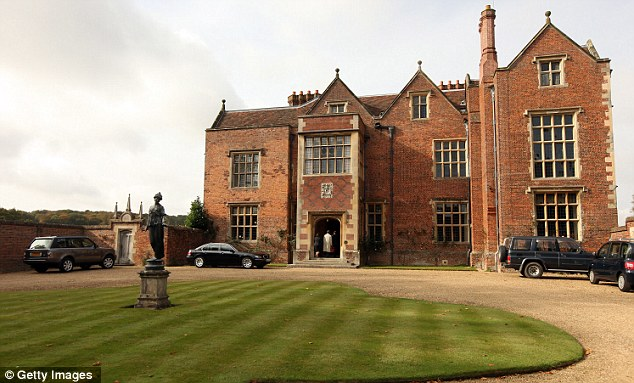 Secretive tycoon David Rowland and billionaire City businessman Michael Spencer, are among the people who have been invited to either Number 10 or his country residence Chequers (pictured)