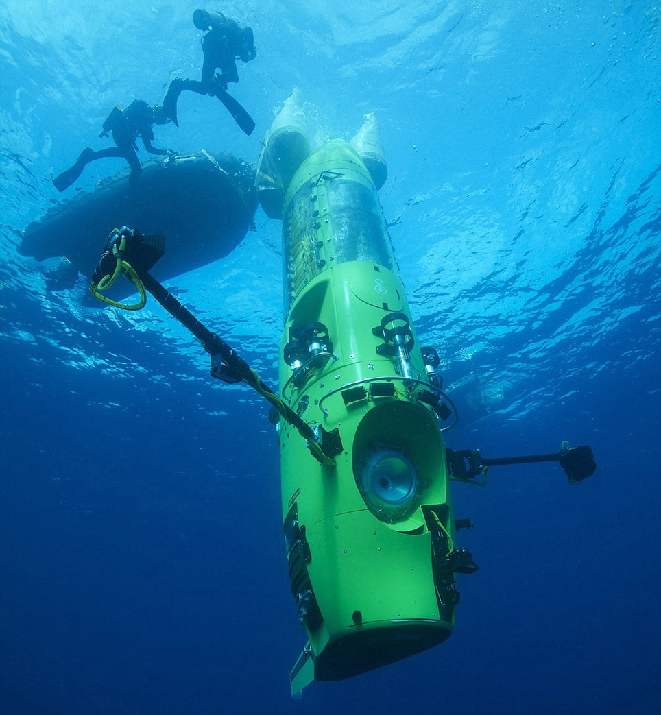 Pressure's on: Deepsea Challenger undergoes deep-water testing in preparation for yesterday's dive