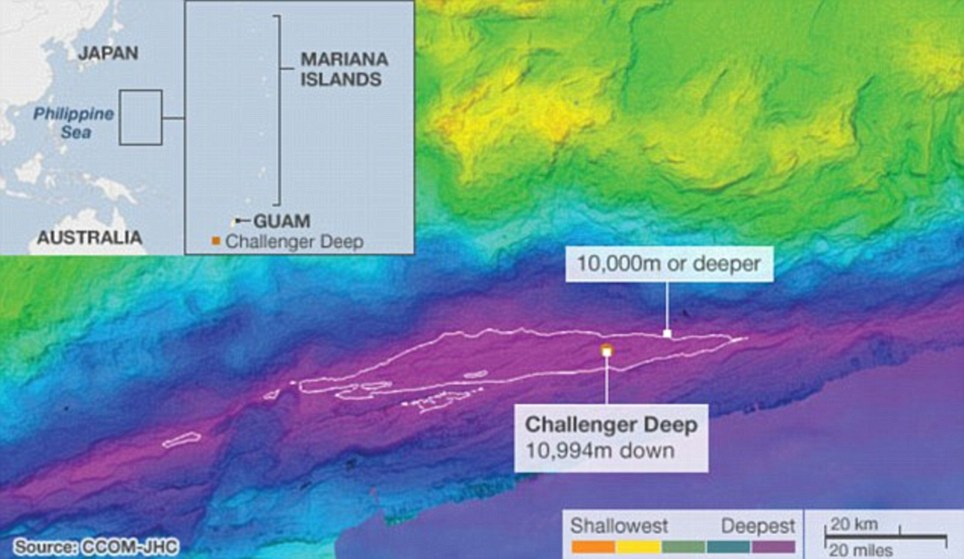 US scientists have mapped the deepest part of the world's oceans in greater detail than ever before.The Mariana Trench in the western Pacific runs for about 2,500km and extends down to 10,994m