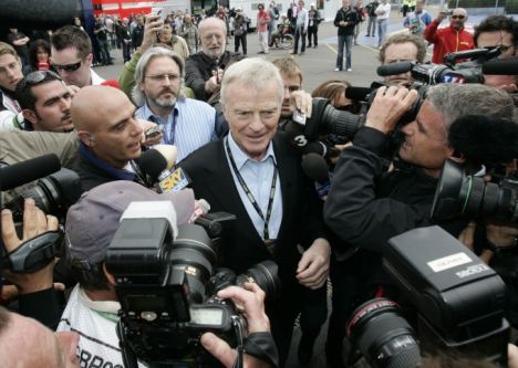 The committee heard from former Formula 1 boss Max Mosley, centre, who claimed he has spent £500,000 trying to remove a video from the internet