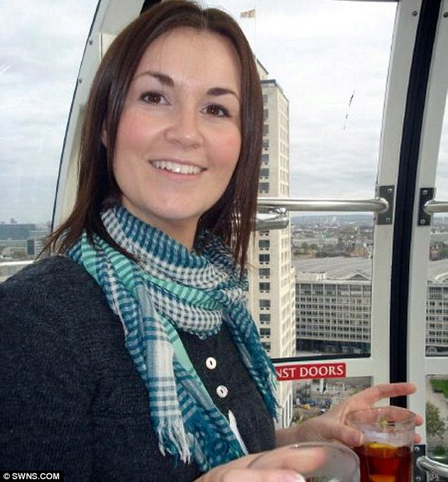Fighter: Miss Webb had been diagnosed with ovarian cancer in 2008  but sadly died just 90 minutes before she because Mrs Bradford