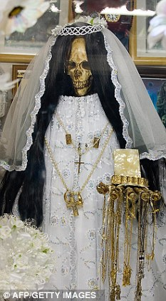 The 'Santa Muerte' (Holy Death) cult in Mexico places great importance on the dead