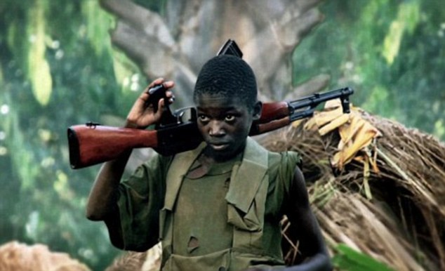 Horrific: Kony's guerilla army has abducted thousands of children in central Africa to join it, forcing them to commit horrific acts of violence