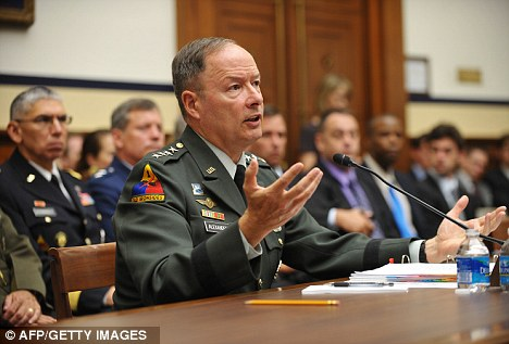 General Keith Alexander, commander of the US Cyber Command, testifies before the House Armed Services Committee on ¿US Cyber Command