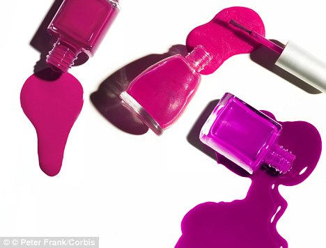Dangerous manicures: Nail polishes commonly found in California salons and advertised as free of three specific chemicals called the 'toxic trio' have been found to be dangerous