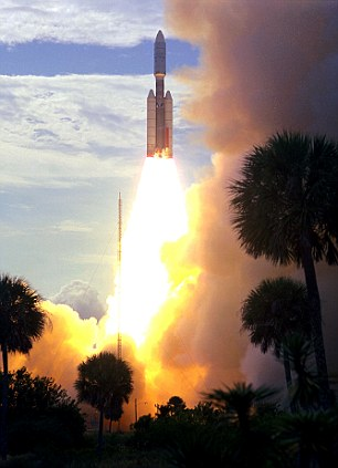 Viking 1 launched by a Titan Centaur rocket from Complex 41 at Cape Canaveral Air Force Station