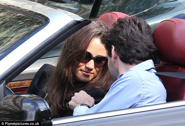 Friends: Miss Middleton seems close to the driver as they drive around the French capital
