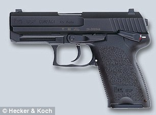 A Heckler & Koch pistol that looks similar to the 'gun' Mr Rabillard pointed at a photographer on Saturday