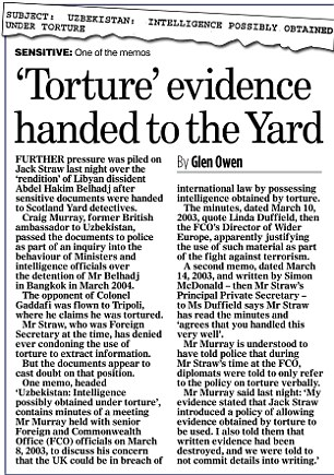 Torture evidence handed to the yard
