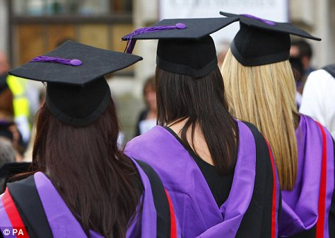 Future: Half of college graduates are unemployed or underemployed making it hard for those with bachelor's degrees to get a start in their careers (file photo)
