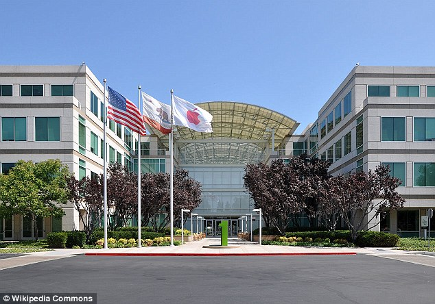 Avoidance: Apple's headquarters in Cupertino, California, pictured, are just 200 miles away from its subsidiary in Reno