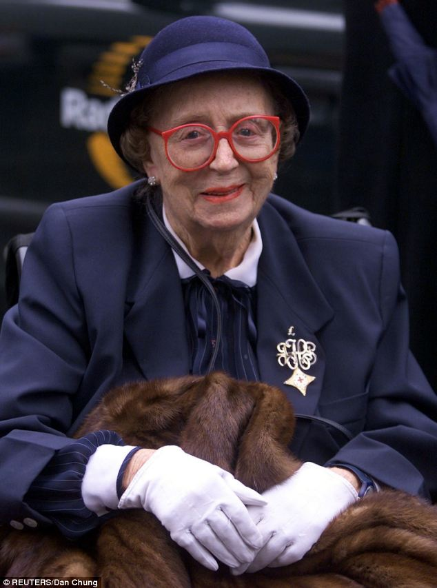 Friends: Thora Hird arriving at the memorial service for entertainer Sir Harry Secombe at Westminster Catherdral in October, 2001