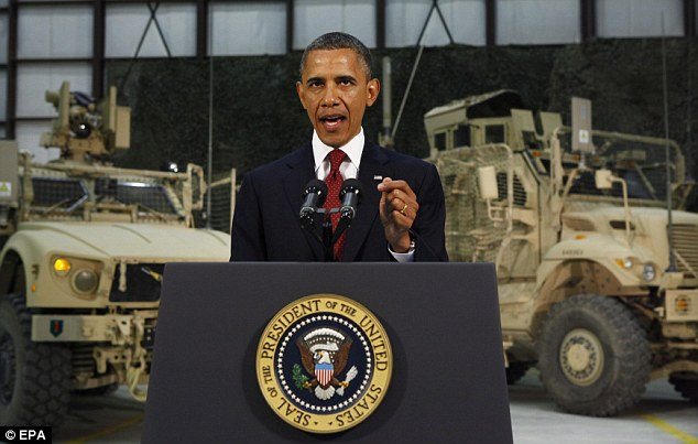 President Obama addressed the nation after arriving on a secret unannounced visit to Afghanistan marking the first anniversary of the death of Osama bin Laden