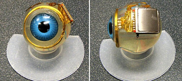The chip is 3mm by 3mm, and is implanted into the eyeball of sufferers
