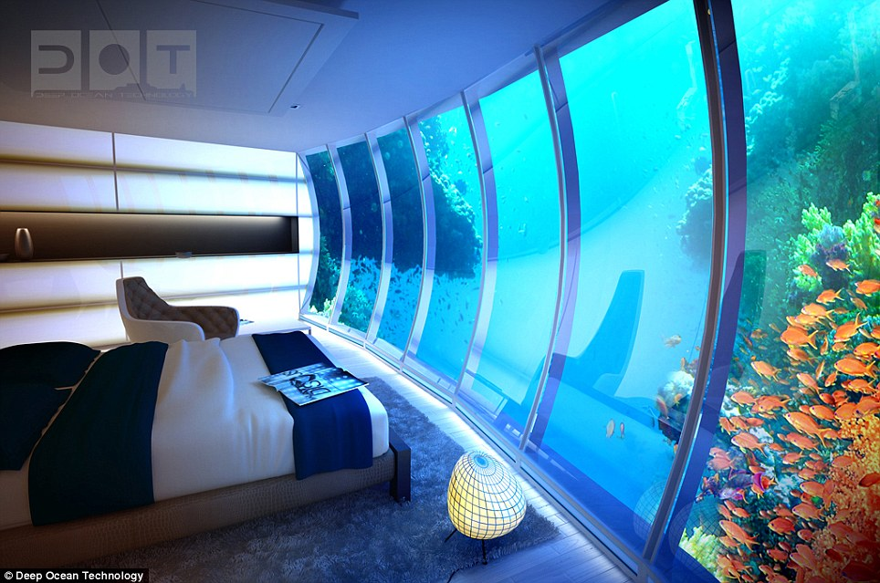 Dubai Underwater Hotel: Emirate Plans Hotel With Rooms 10m