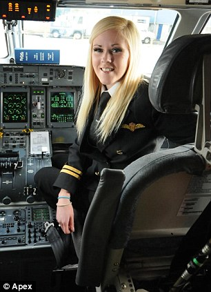 'I got the aviation bug': Kate is starting her career with £80,000 worth of debt accumulated from paying for the 14-month intensive live-in course at the Spanish flight school and a pilot loan